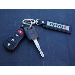Leather Key Chain, Black